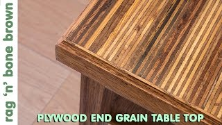 Making A Plywood End Grain Table Top From Offcuts - Part 1 of 2