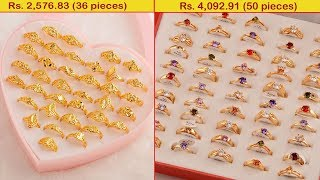 Latest Women Gold coated Finger Ring Designs Collections 2019 | 1 gram Gold Jewellery designs | T. F