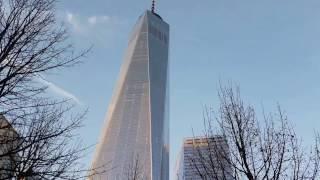 One World Trade Center (Freedom Tower) at sunset- New York City - 4K UltraHD