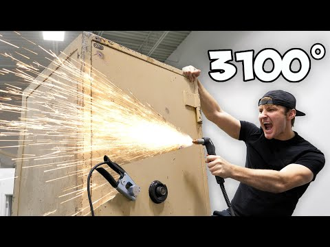 Breaking Into An Abandoned Safe With A Plasma Cutter