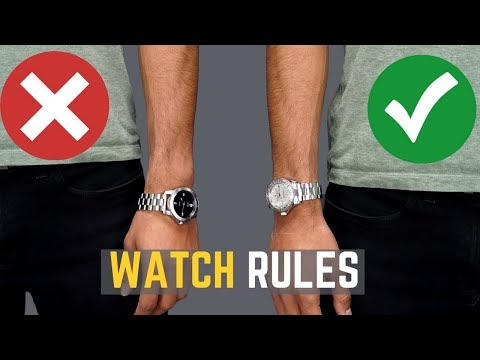 Xxx Mp4 5 Watch Rules ALL MEN Should Follow STOP Wearing Your Watches WRONG 3gp Sex