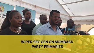 Wiper sec general on party primaries