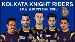Kolkata Knight Riders Full Squad | IPL 2018 Auction