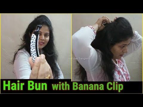 Xxx Mp4 Hair Bun With Banana Clip Hairstyles For Medium Or Long Hair Indian YouTuber Sangeeta 3gp Sex