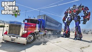 OPTIMUS PRIME DRIFT TRUCK - GTA 5 TRANSFORMERS MOD !!!