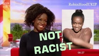 Dove model says advert isnt racist and is a PC witch hunt.
