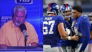 """ESPN Analyst TRASHES Giants O-Line: """"They SUCK, That"""