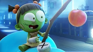 Funny Animated Cartoon | Spookiz The Jelly Race for the Apple on a Stick 스푸키즈 | Cartoon for Children