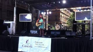 Martha sings at Carers' Day Out