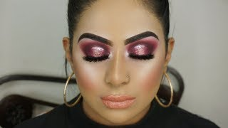 Contemporary Asian Bridal Makeup | Halo Smokey Eyes And Glossy Lipstick