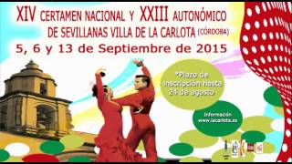 Certamen Nacional Sevillanas La Carlota 2015