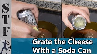 Grate the Cheese With a Soda Can | Life Hacks