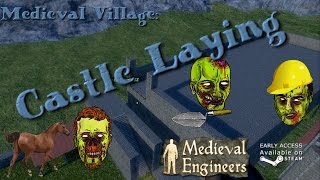 Medieval Engineers Village part 17 - Castle laying