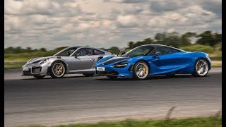 Drag Race : Porsche 911 GT2 RS VS McLaren 720S