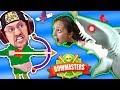 Download Video MOMMY, CAN I SHOOT A SHARK PWEEEZ?! 🌊 BOWMASTERS Game w/ BAD BABY FGTEEV Duddy Chunky Boy (Skit) 3GP MP4 FLV