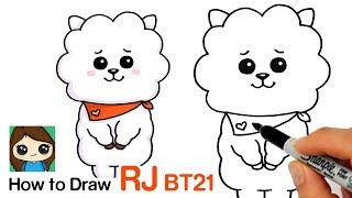 How to Draw BT21 RJ | BTS Jin Persona