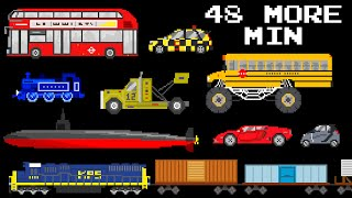 48 More Minutes of Vehicles - Collection of Street, Railway, Sports & More - The Kids