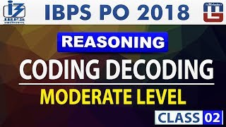 Coding Decoding | Moderate Level | Class 2 |  IBPS PO 2018 | Reasoning | Live at 11 am
