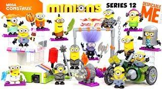 Mega Construx Despicable Me Minions Series 12 w/ Ice Cream Truck Motorcycle Mania & Ninja Practice