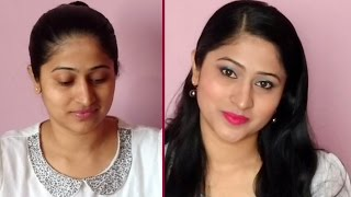 Party makeup tutorial for indian skin in Hindi   Valentine's day makeup Tutorial for Indian skin