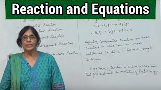Reaction and Equations