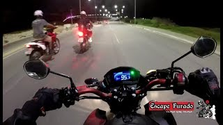 Honda CB Twister 250F 2016 vs Honda Tornado 250 - Canal Escape Furado