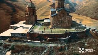 Gergeti Aerial Footage - kazbegi georgia