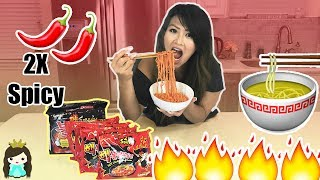 EXTREME SPICY RAMEN NOODLE CHALLENGE! Scary Spicy Korean Hot Fire Noodle FAIL | Life of Princess T
