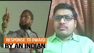 Response to Asaduddin owaisi on Bharat mata ki jai hate speech