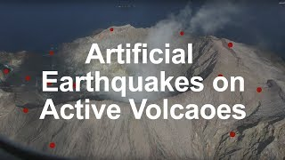 Making Artificial Earthquakes on an Active Volcano