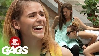 Pregnant Woman Farts on Strangers - Just For Laughs Gags