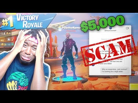 I Tried to Buy a 5 000 Hacked Galaxy Skin Account and THIS HAPPENED FORTNITE SCAMMER BEWARE