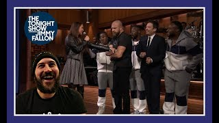 Reaction: WWE LIP SYNC BATTLE ON JIMMY FALLON!!! (HHH & Steph Vs New Day)