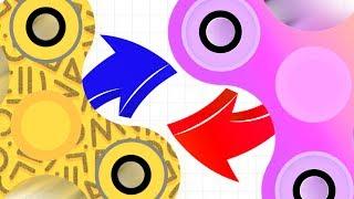 WORLD RECORD FIDGET SPINNER TEAM...!!! | Slither.io With Fidget Spinners | Spinz.io Part 4