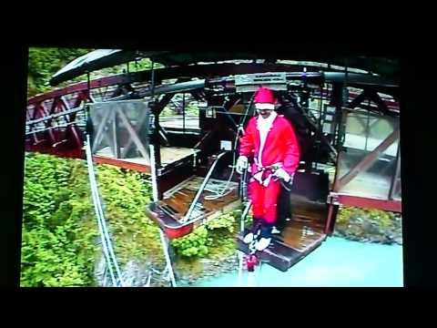 Bungy jump NZ santa clause