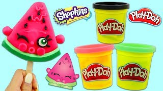 How to Make Shopkins Melonie Pips Play Doh Popsicle!
