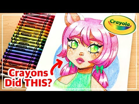 ☆ Creating Artwork with...CRAYOLA CRAYONS?? || Using Kid's Art Supplies! ☆