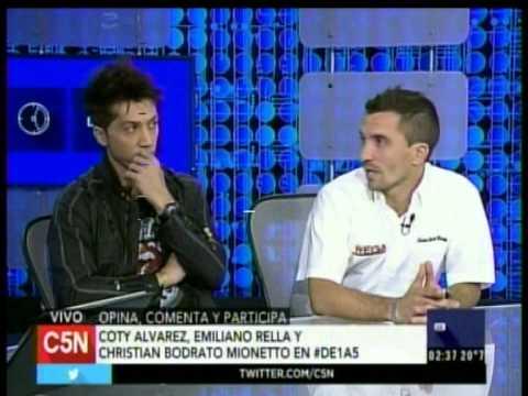 C5N DE1A5 LA VISITA DE COTY ALVAREZ EMILIANO RELLA Y CHRISTIAN BODRATO