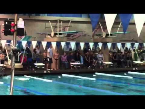 Megan 100 breaststroke at Cerritos Olympic Swim Center