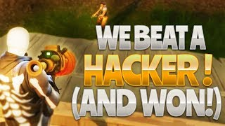 WE BEAT a HACKER - AND WON! (Fortnite Battle Royale)