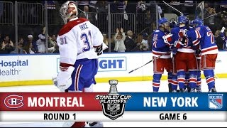 Montreal Canadiens vs New York Rangers | Round 1 Game 6 | 2017 Playoffs Highlights