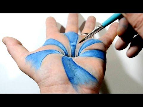 Xxx Mp4 Trick Art On Hand Cool 3D Hole Optical Illusion 3gp Sex
