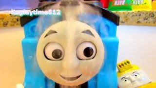 LEARN COLORS with THOMAS & FRIENDS Bath Splash Bath Buddies Bath Paint | itsplaytime612