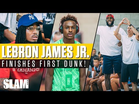 Bronny James finishes FIRST DUNK in front of Quavo DWade and CP3 Chips win Las Vegas Classic 🏆