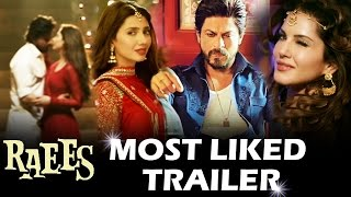 Shahrukh's RAEES Creates Record - MOST LIKED TRAILER In 24 Hrs