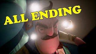 HELLO NEIGHBOR ALL ENDINGS