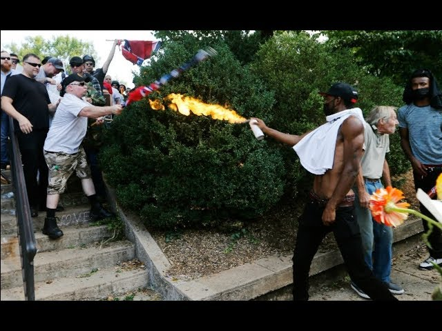 Warning: Graphic Content - Death, Brawl, Injuries in Charlottesville, VA   Los Angeles Times