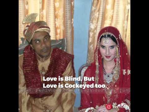 Indian funny Wedding Couple