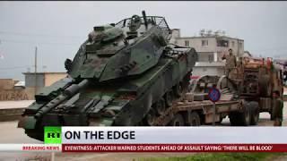 'Erdogan, Afrin will be your graveyard': Kurds protest against planned Turkish invasion