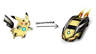 Pikachu - Pokemon Characters As Transformer #4.